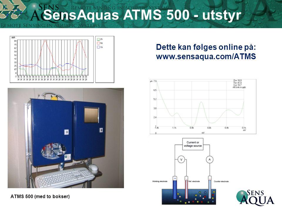Dette kan følges online på: www.sensaqua.com/ATMS ATMS 500 (med to bokser) SensAquas ATMS 500 - utstyr