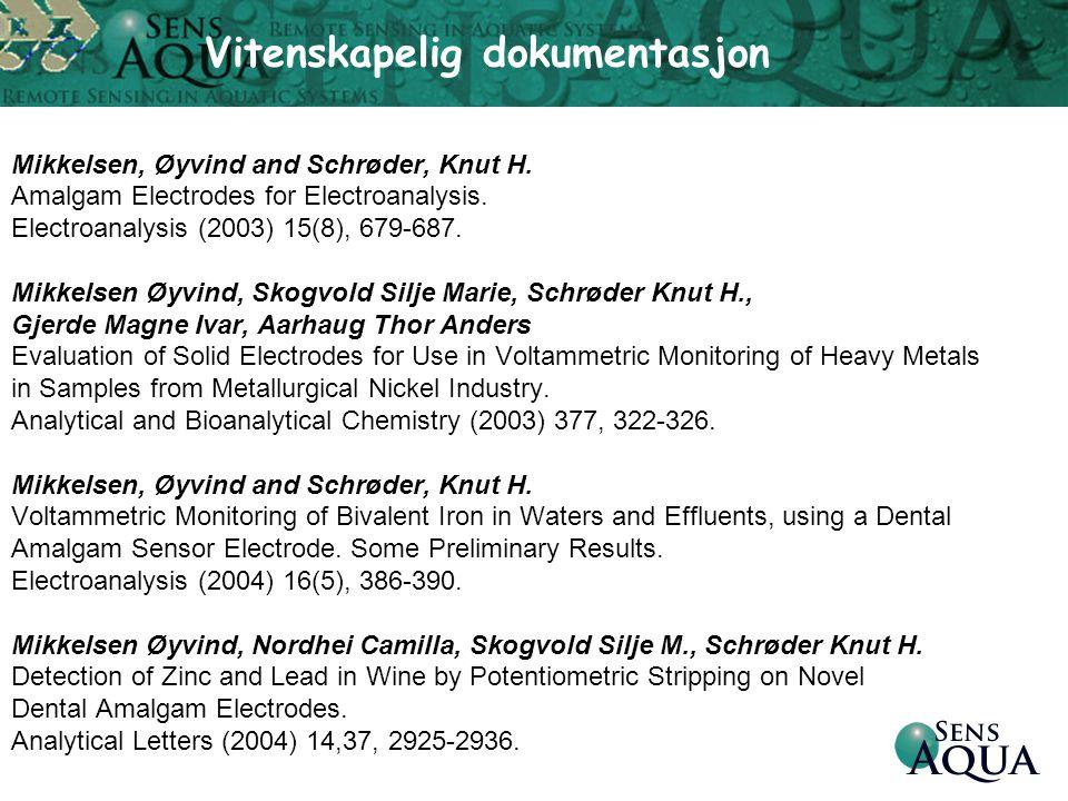 Mikkelsen, Øyvind and Schrøder, Knut H. Amalgam Electrodes for Electroanalysis. Electroanalysis (2003) 15(8), 679-687. Mikkelsen Øyvind, Skogvold Silj