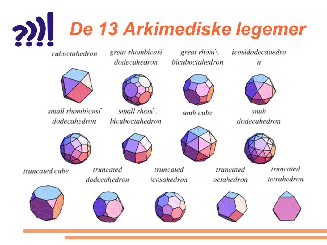 De 13 Arkimediske legemer