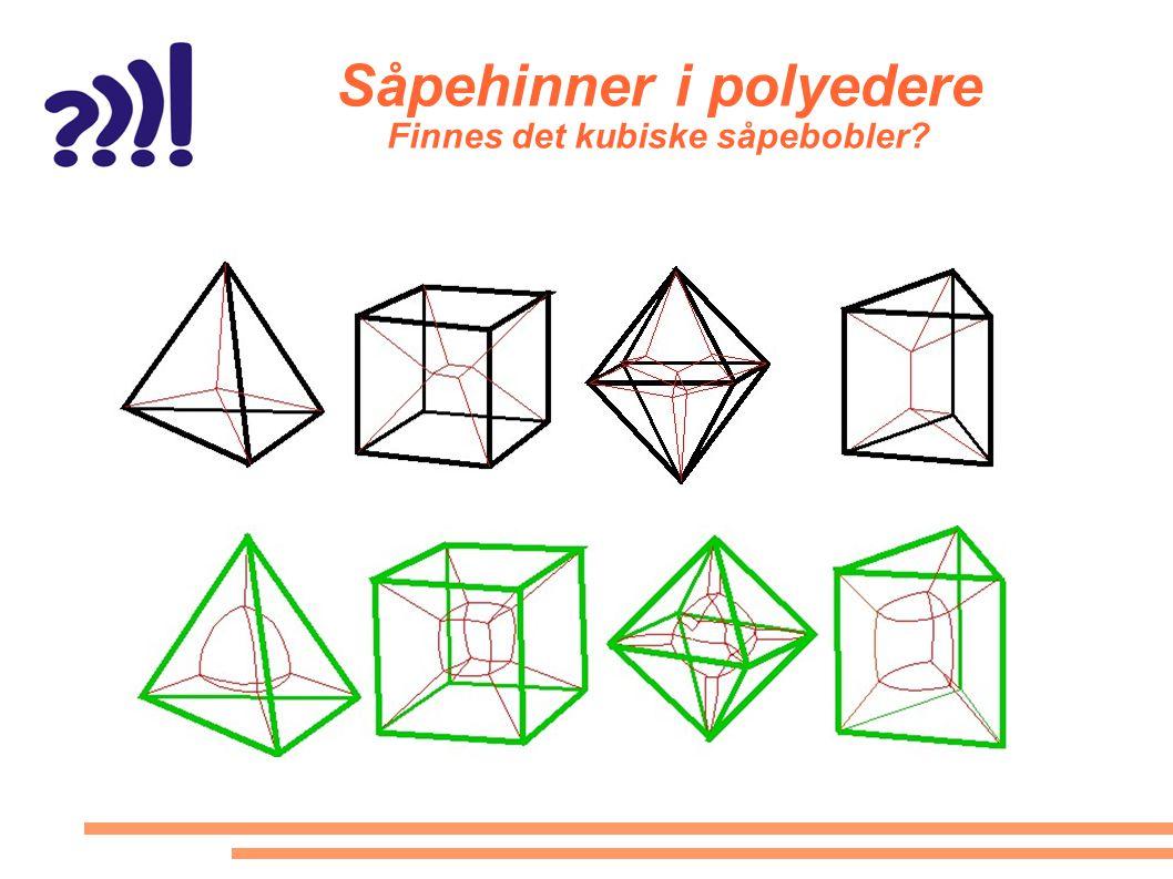 Såpehinner i polyedere Finnes det kubiske såpebobler?