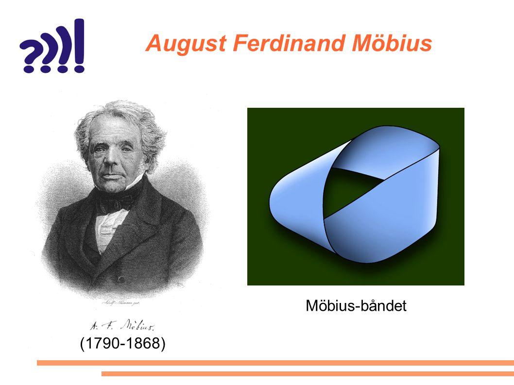 August Ferdinand Möbius Möbius-båndet (1790-1868)