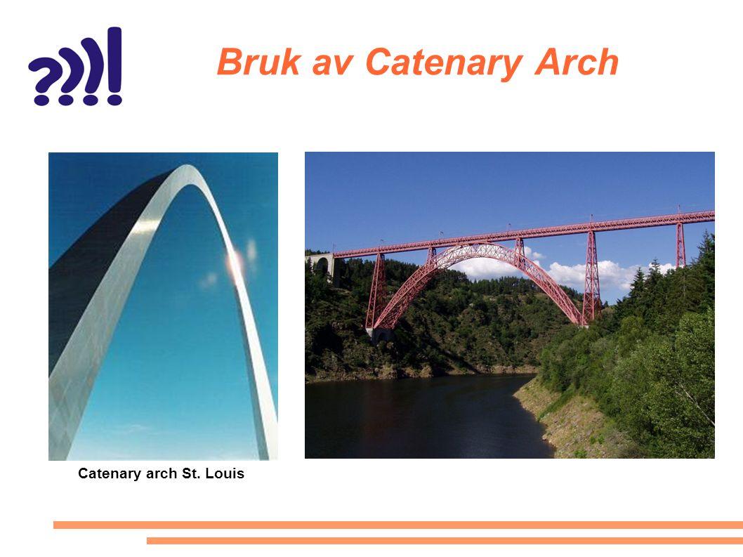 Bruk av Catenary Arch Catenary arch St. Louis