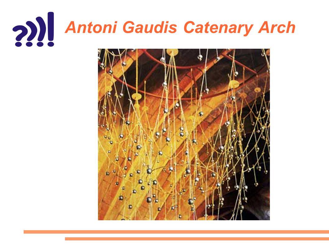 Antoni Gaudis Catenary Arch