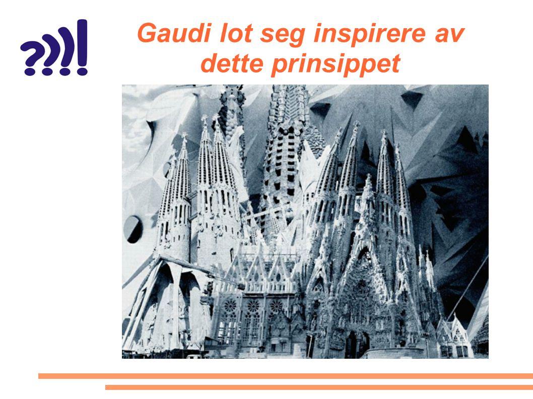 Gaudi lot seg inspirere av dette prinsippet