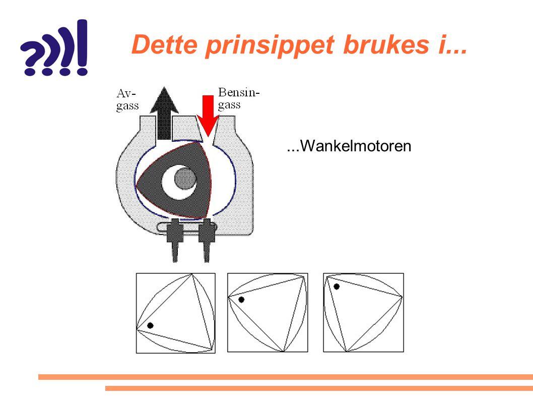 Dette prinsippet brukes i......Wankelmotoren
