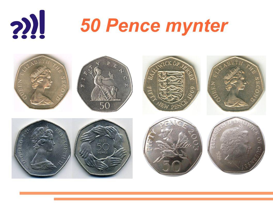50 Pence mynter