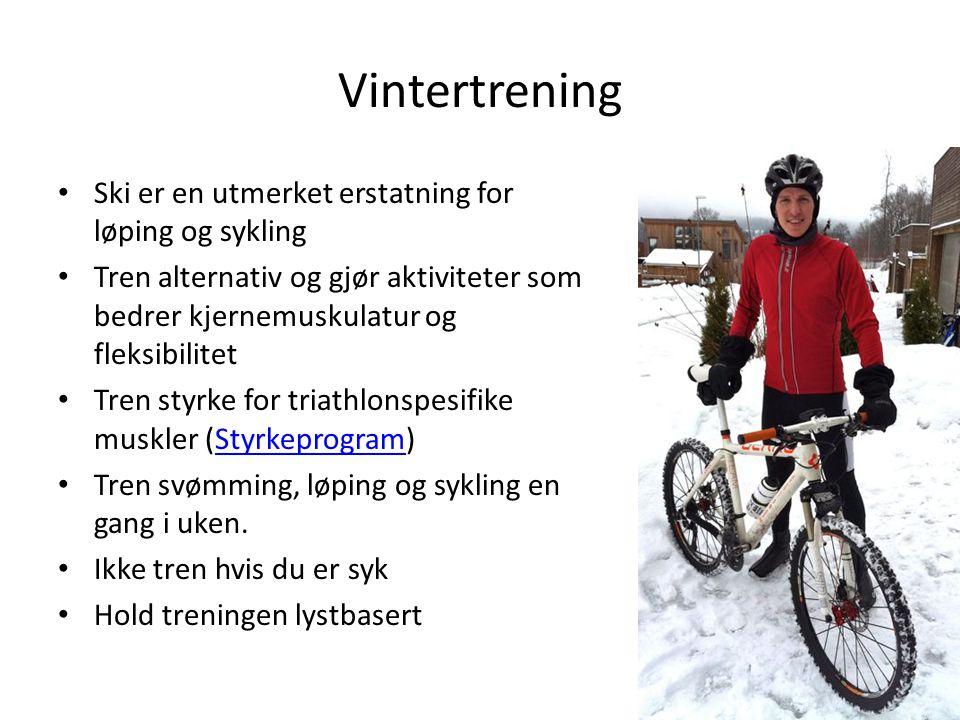 Vintertrening Ski er en utmerket erstatning for løping og sykling Tren alternativ og gjør aktiviteter som bedrer kjernemuskulatur og fleksibilitet Tre