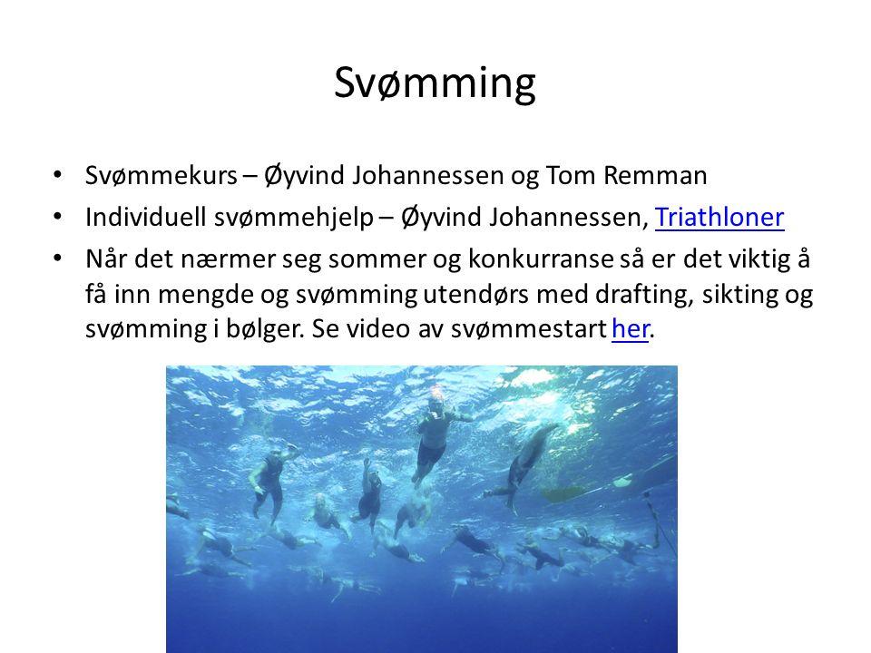 Svømming Svømmekurs – Øyvind Johannessen og Tom Remman Individuell svømmehjelp – Øyvind Johannessen, TriathlonerTriathloner Når det nærmer seg sommer