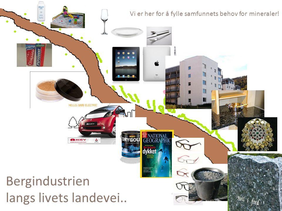 Bergindustrien langs livets landevei.. Vi er her for å fylle samfunnets behov for mineraler!