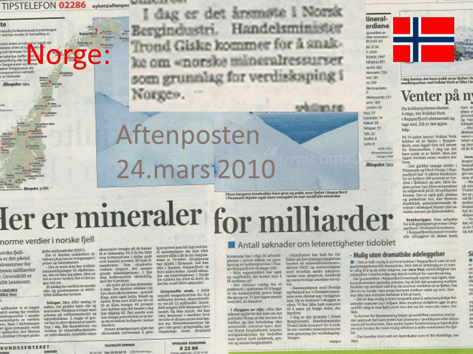 Aftenposten 24.mars 2010 Norge: