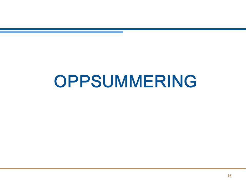 OPPSUMMERING 16