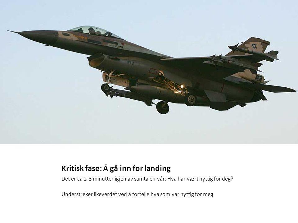 Kritisk fase: Å gå inn for landing Størrelse:858 × 450 Type:23KB JPG Det er ca 2-3 minutter igjen av samtalen vår: Hva har vært nyttig for deg? Unders