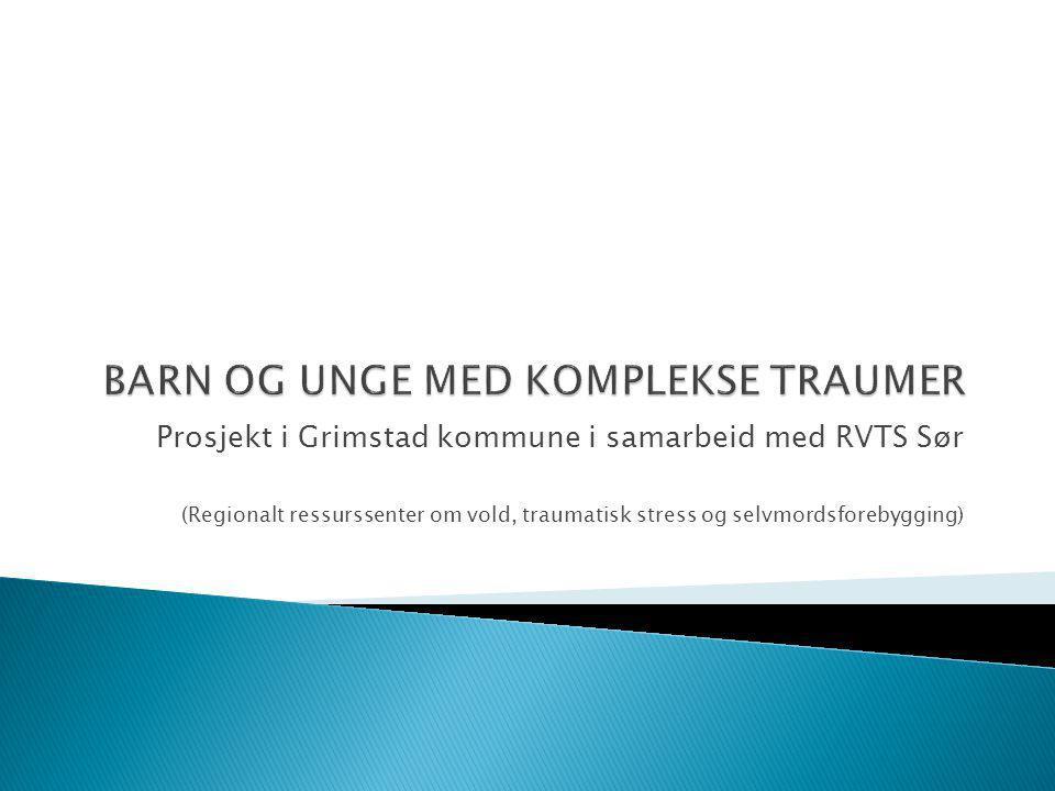 Prosjekt i Grimstad kommune i samarbeid med RVTS Sør (Regionalt ressurssenter om vold, traumatisk stress og selvmordsforebygging)