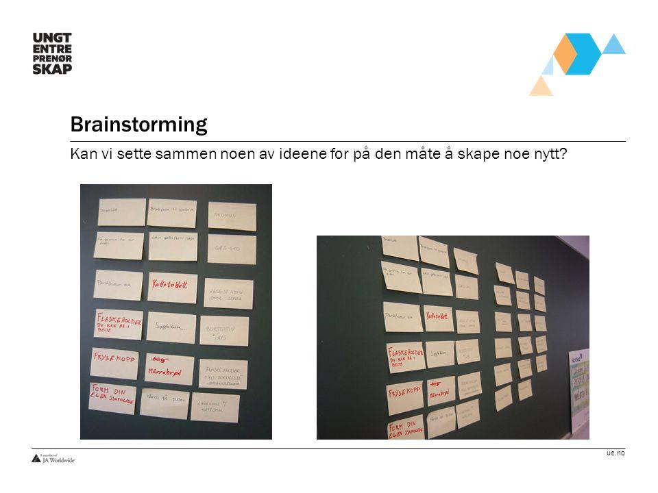 ue.no Brainstorming Kan vi sette sammen noen av ideene for på den måte å skape noe nytt?