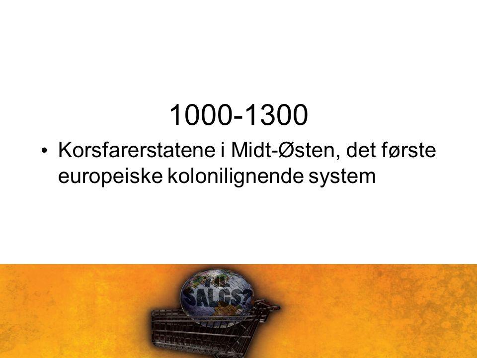 1000-1300 Korsfarerstatene i Midt-Østen, det første europeiske kolonilignende system