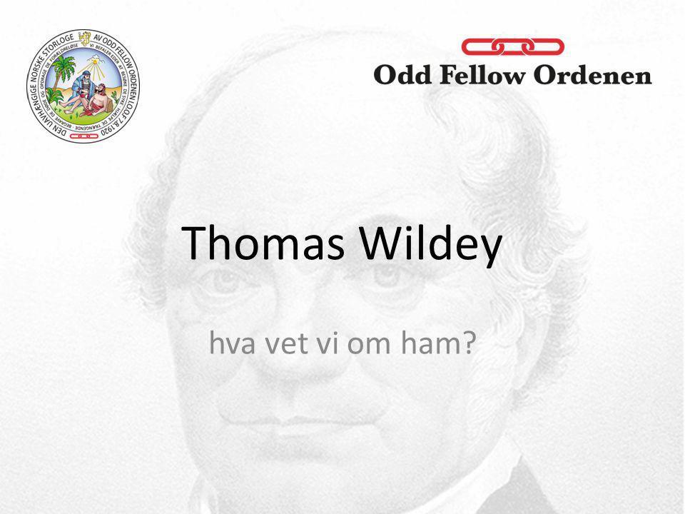 hva vet vi om ham? Thomas Wildey