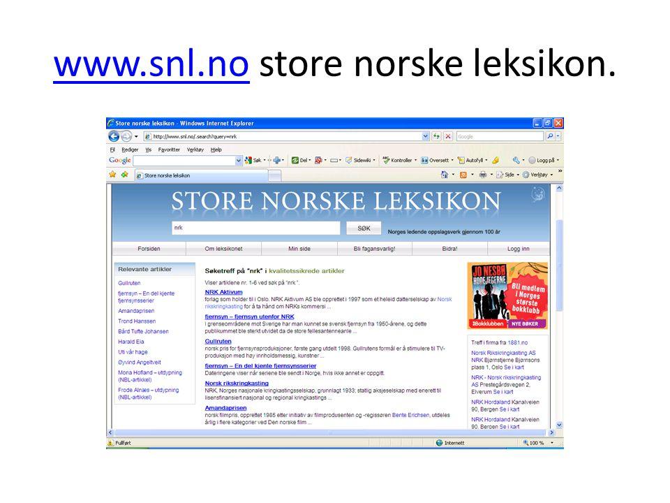 www.snl.nowww.snl.no store norske leksikon.