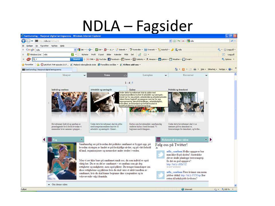 NDLA – Fagsider