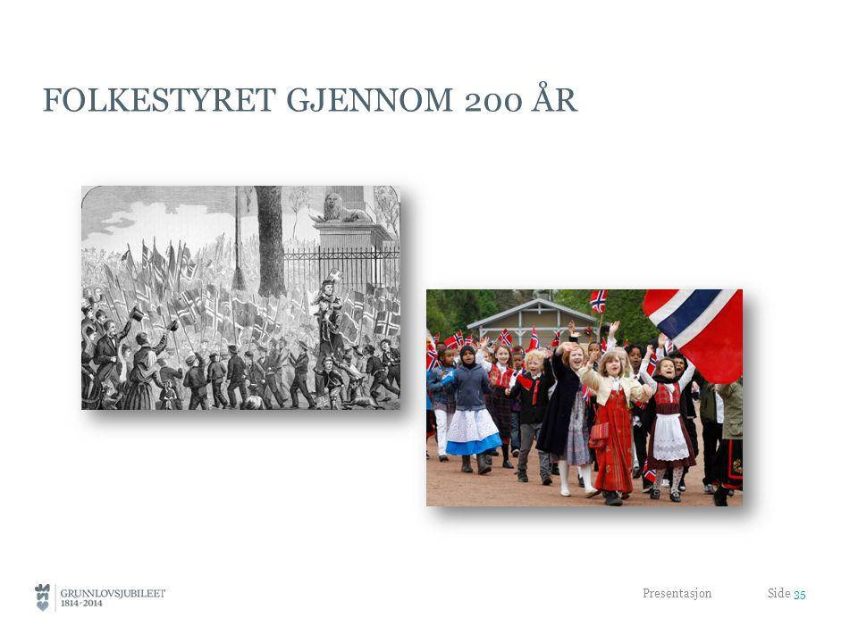 FOLKESTYRET GJENNOM 200 ÅR Presentasjon Side 35