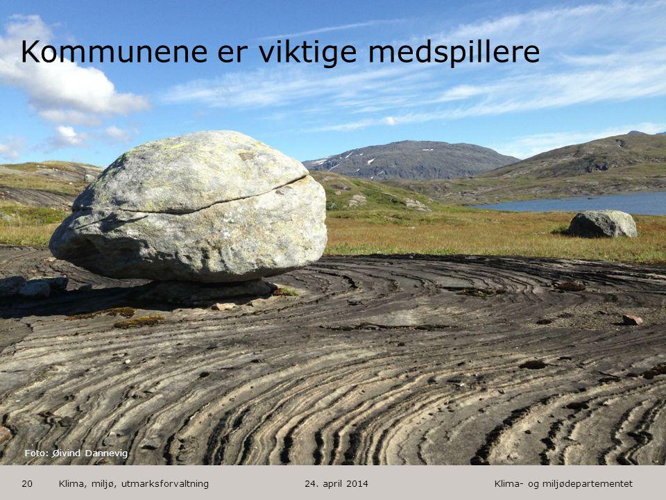 Klima- og miljødepartementet Norsk mal: Tekst med kulepunkter - 1 vertikalt bilde HUSK: krediter fotograf om det brukes bilde Klima, miljø, utmarksfor