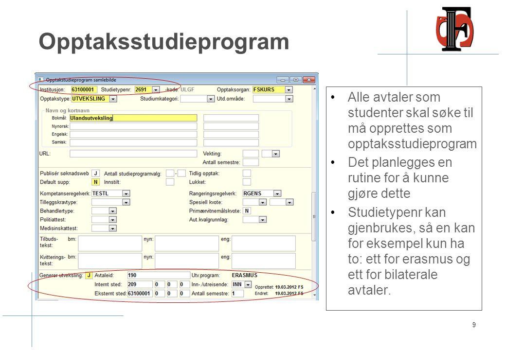 Utvekslingsavtale - Studieprogram 10