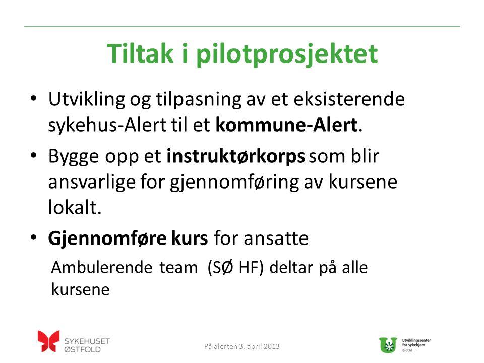 Tiltak i pilotprosjektet Utvikling og tilpasning av et eksisterende sykehus-Alert til et kommune-Alert.