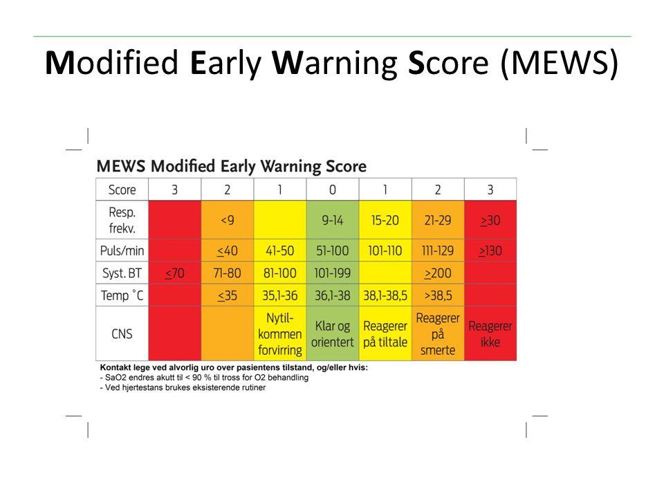 Early Warning Score System Modified Early Warning Score