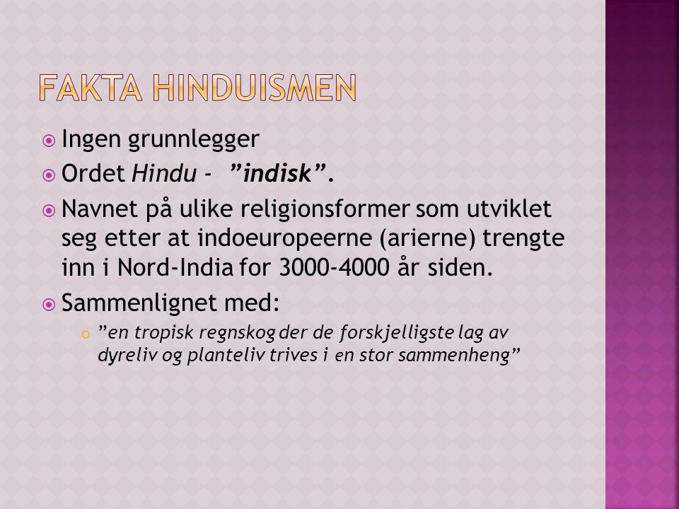  Ingen grunnlegger  Ordet Hindu - indisk .
