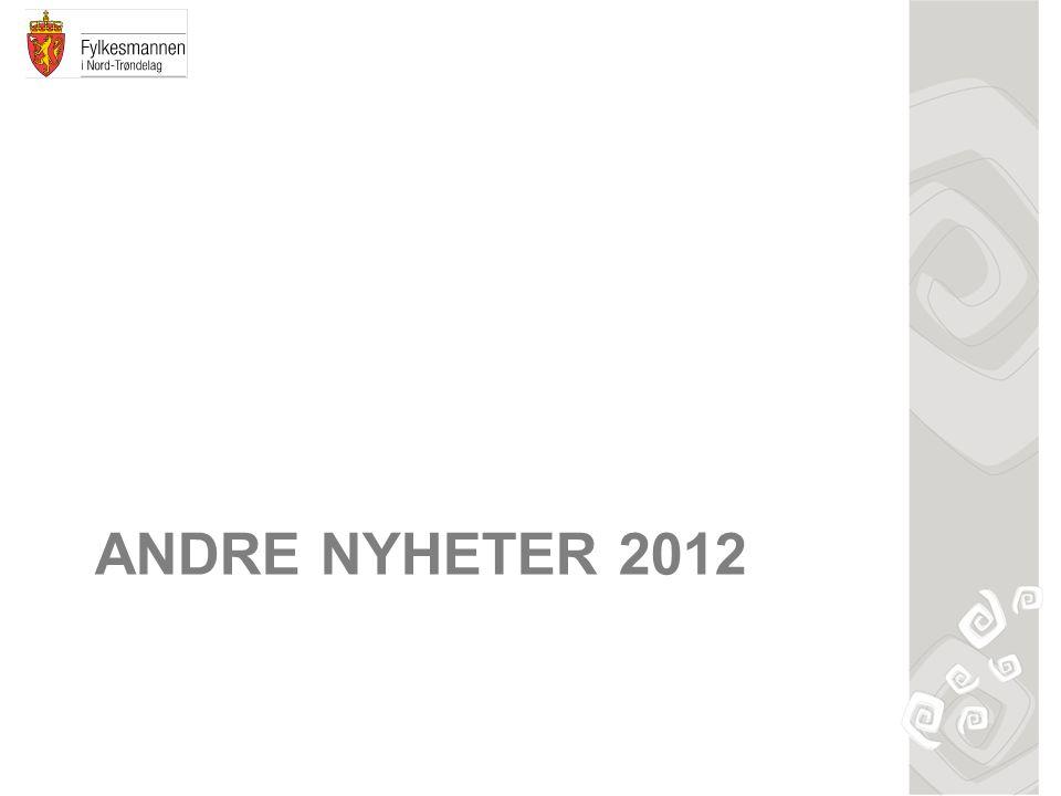 ANDRE NYHETER 2012