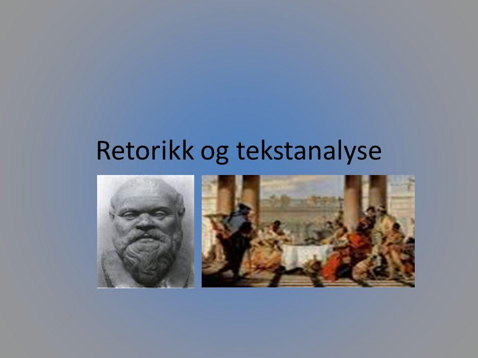 Inventio, dispositio og elecutio Tre andre retoriske begreper.