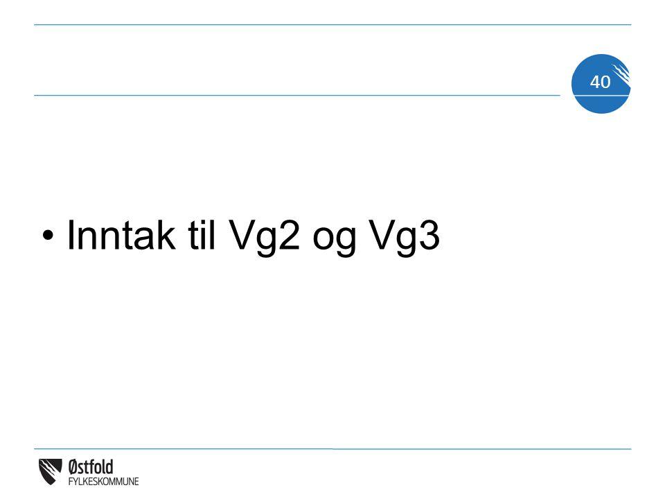 Inntak til Vg2 og Vg3 40