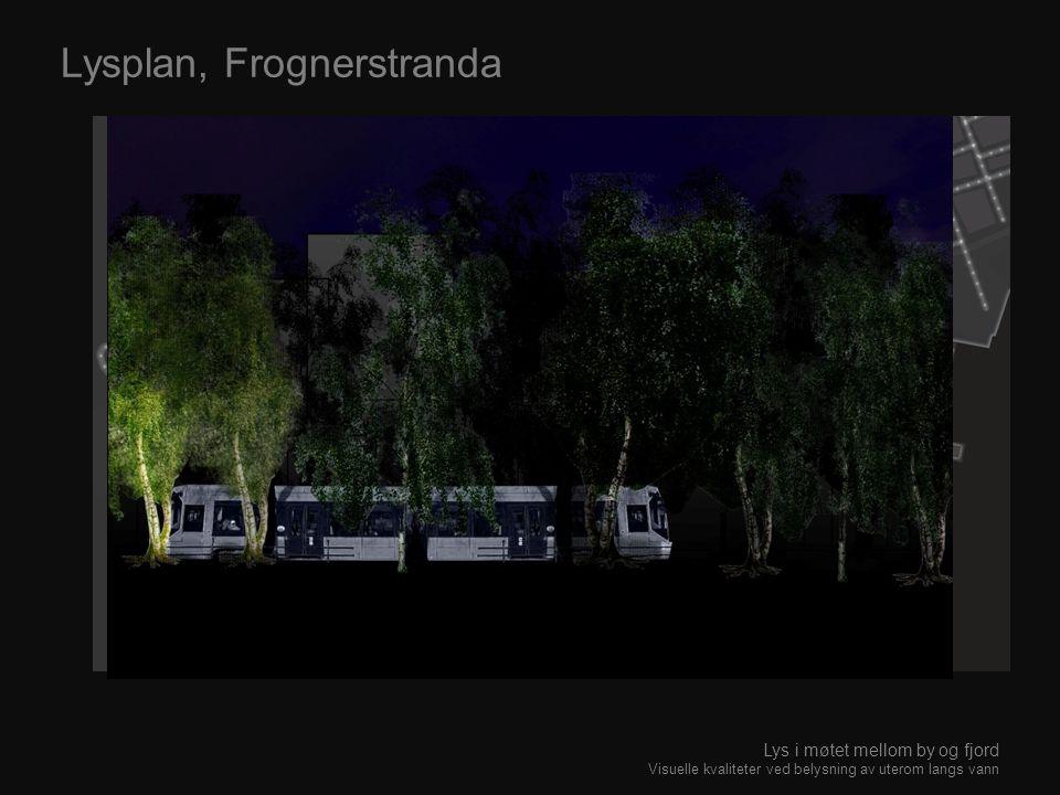 Lysplan, Frognerstranda Lys i møtet mellom by og fjord Visuelle kvaliteter ved belysning av uterom langs vann