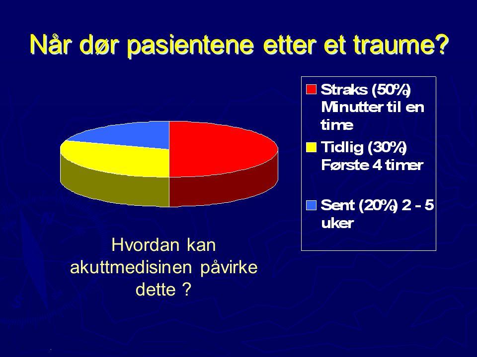Når dør pasientene etter et traume? Hvordan kan akuttmedisinen påvirke dette ?.