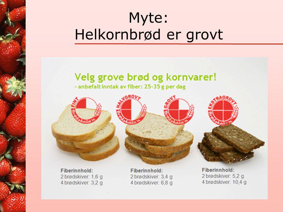 Kornprodukter Grovt •Grove brød •Grove knekkebrød •Kornblandinger •Grovt i bakst •Fullkorns pasta og ris Fint •Fine brød/loff/baguett •Chiabatta, pita