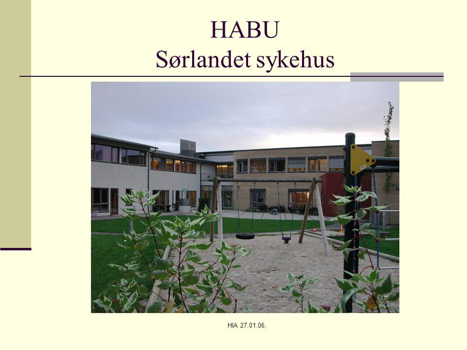 HIA 27.01.06. HABU Sørlandet sykehus
