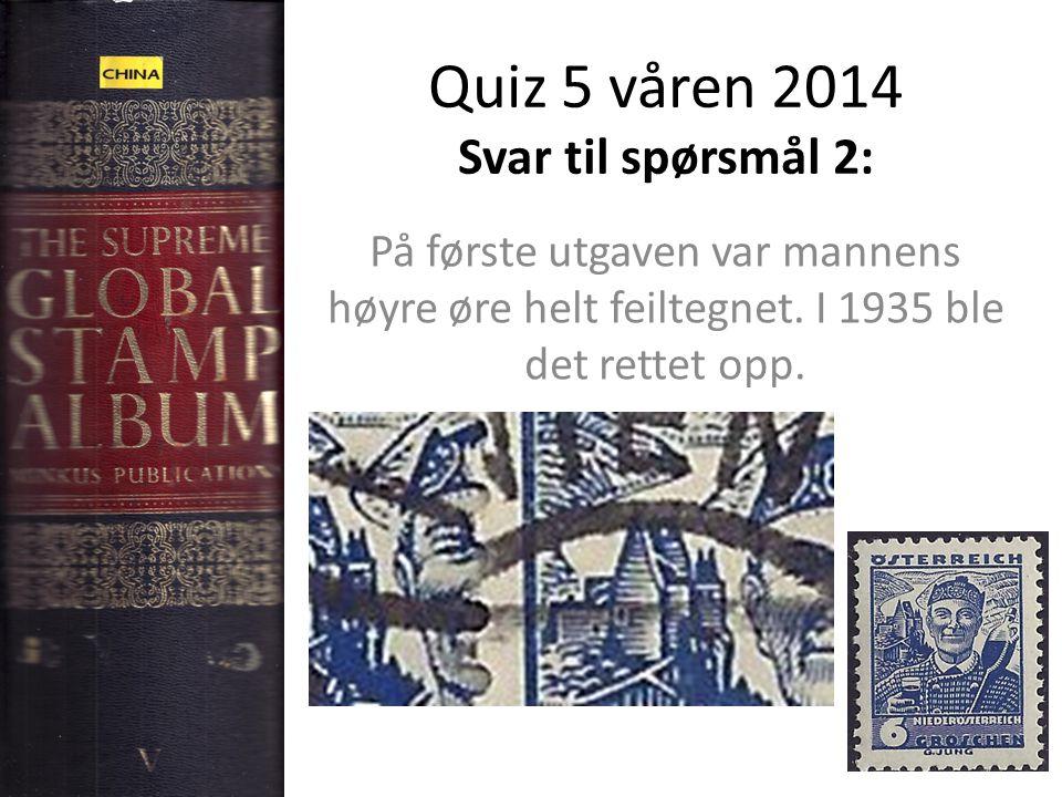 Quiz 5 våren 2014 Svar til spørsmål 2: På første utgaven var mannens høyre øre helt feiltegnet.