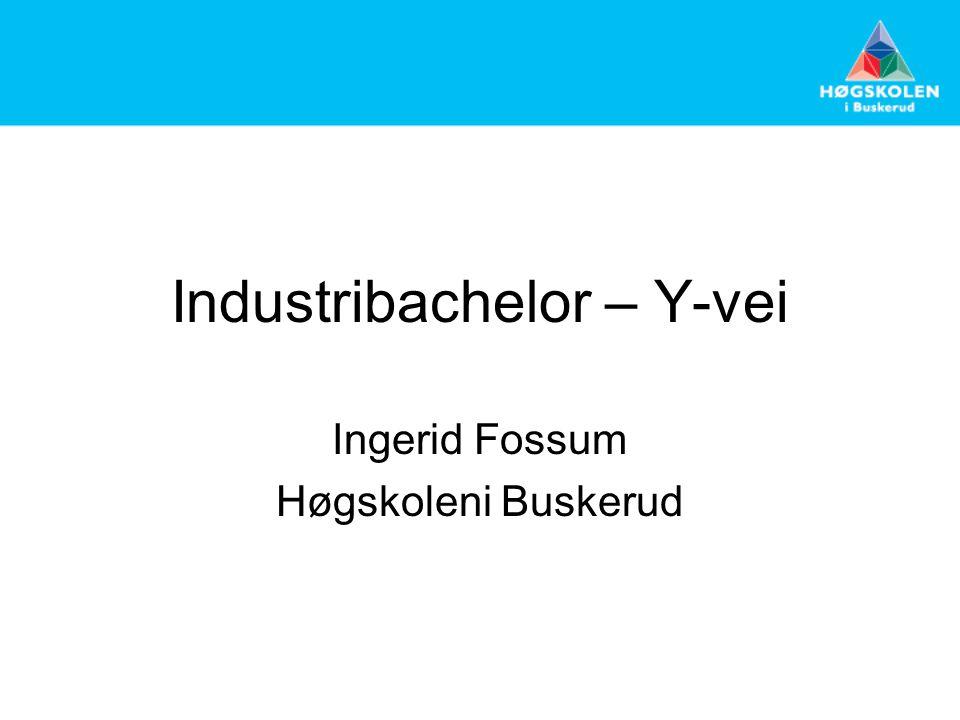 Industribachelor – Y-vei Ingerid Fossum Høgskoleni Buskerud