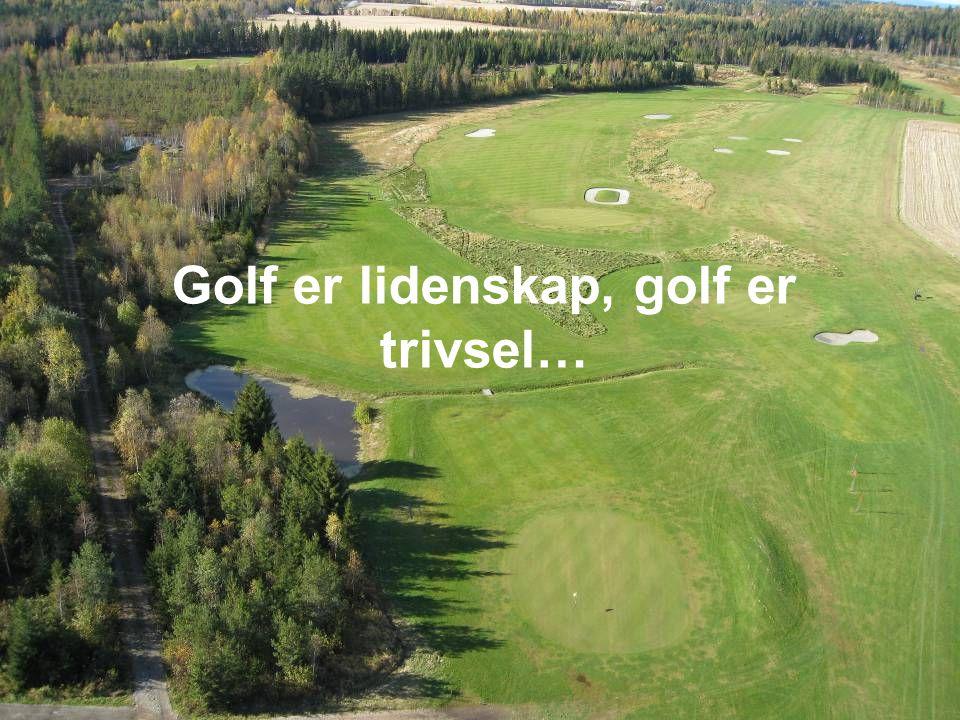 Vi har fokus på Golf Grønn glede, golf for psykisk og fysisk utviklingshemmede