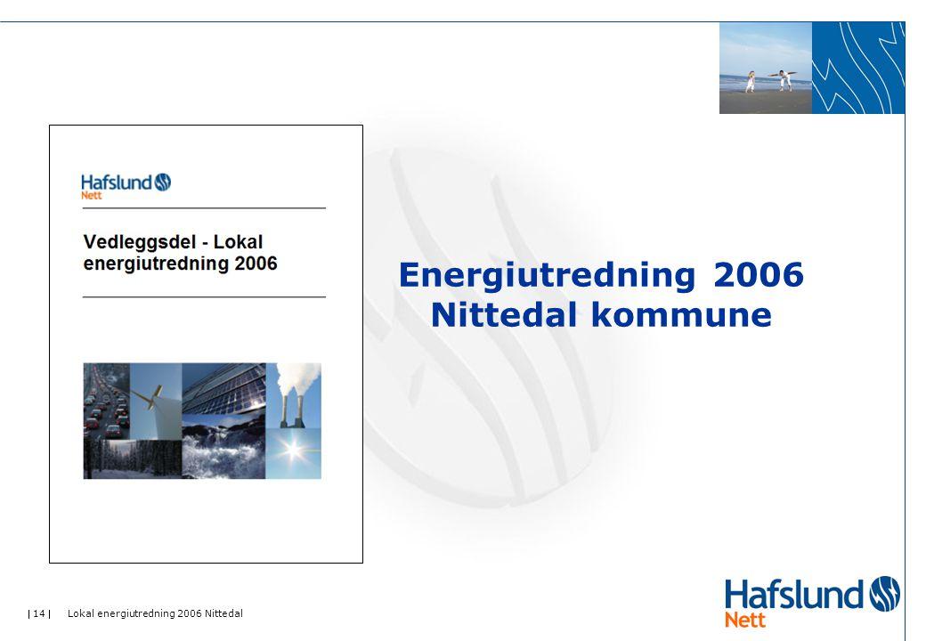  14  Lokal energiutredning 2006 Nittedal Energiutredning 2006 Nittedal kommune