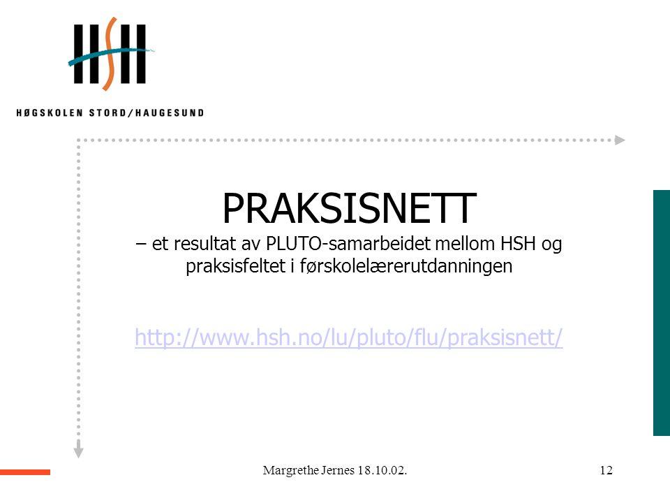 Margrethe Jernes 18.10.02.11 Det kan synes som om datateknologien bør anvendes i nær tilknytning til sosial praksis og de menneskene som er veiledere
