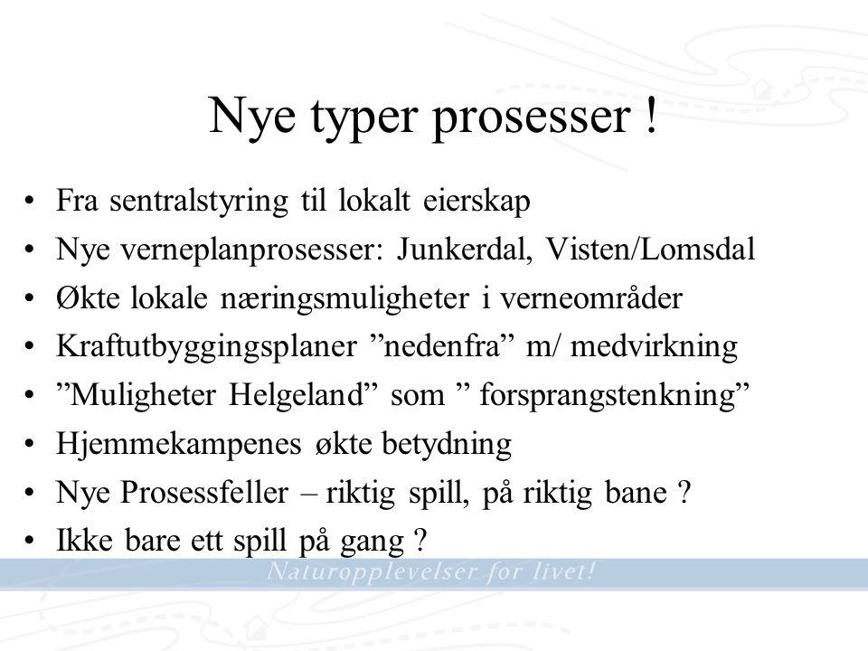 Nye typer prosesser .