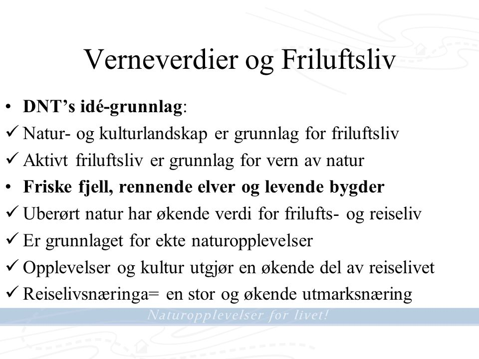 Vefsna-riket Et Flod- og Parksystem med stort potensiale for Opplevelsesturisme •Det siste store norske flodsystemet som ikke er utbygd eller vernet .