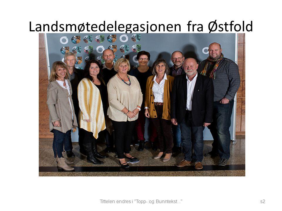 Landsmøtedelegasjonen fra Østfold Tittelen endres i Topp- og Bunntekst... s2
