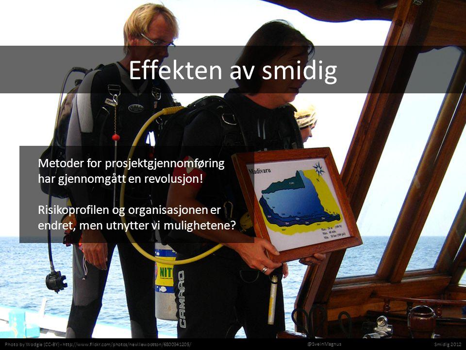 Photo by Wodgie (CC-BY) - http://www.flickr.com/photos/nevillewootton/6800341205/Smidig 2012 @SveinMagnus Metoder for prosjektgjennomføring har gjennomgått en revolusjon.