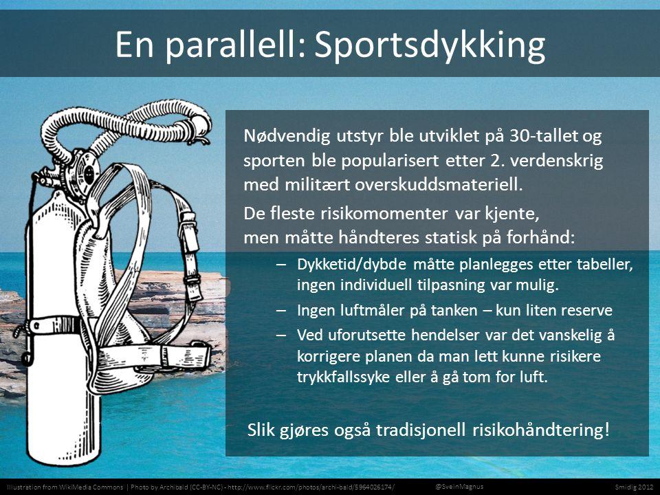 Photo by DocJelly (CC-BY-NC) - http://www.flickr.com/photos/docjelly/173949072/Smidig 2012 @SveinMagnus Smidig sportsdykking Oppdriftskontroll Lufttrykksmåler Dykkecomputer