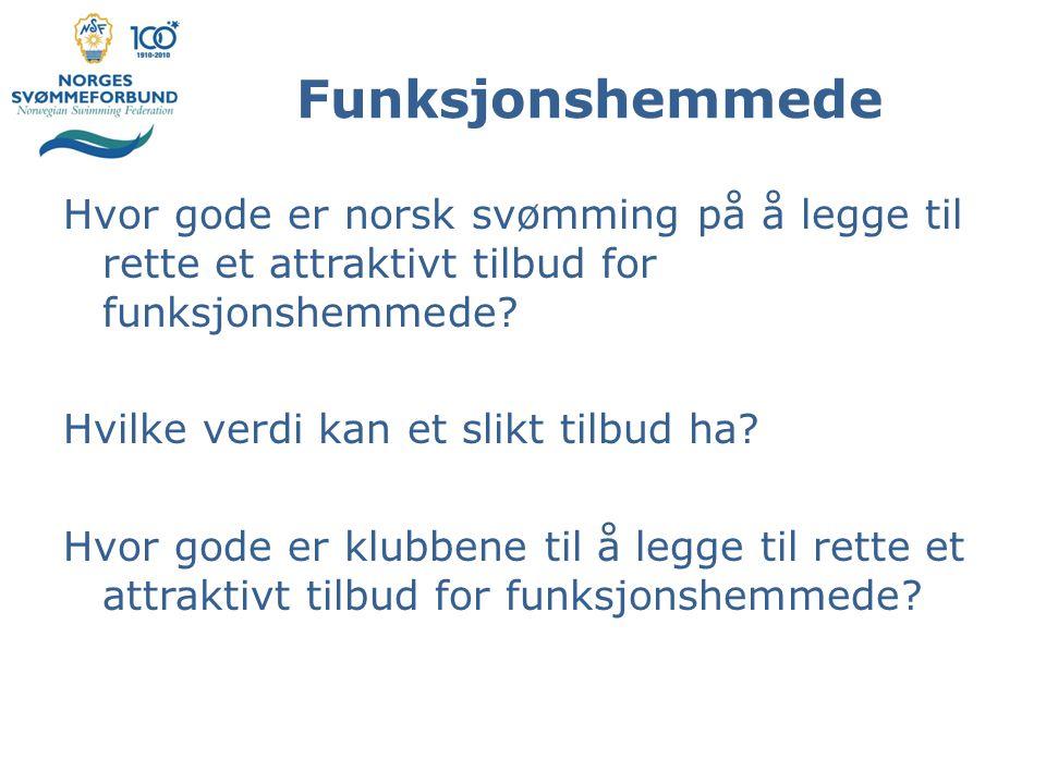 Funksjonshemmede Hvor gode er norsk svømming på å legge til rette et attraktivt tilbud for funksjonshemmede.