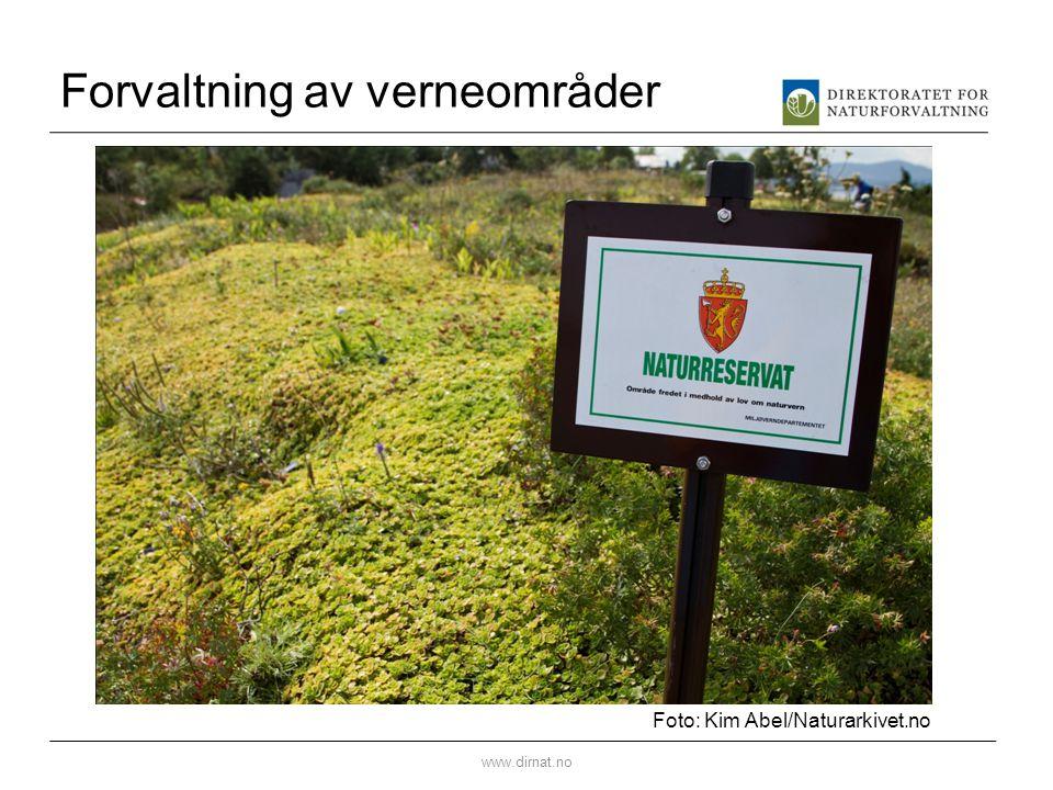 Forvaltning av verneområder www.dirnat.no Foto: Kim Abel/Naturarkivet.no