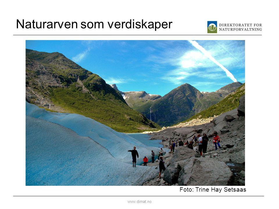 Naturarven som verdiskaper www.dirnat.no Foto: Trine Hay Setsaas