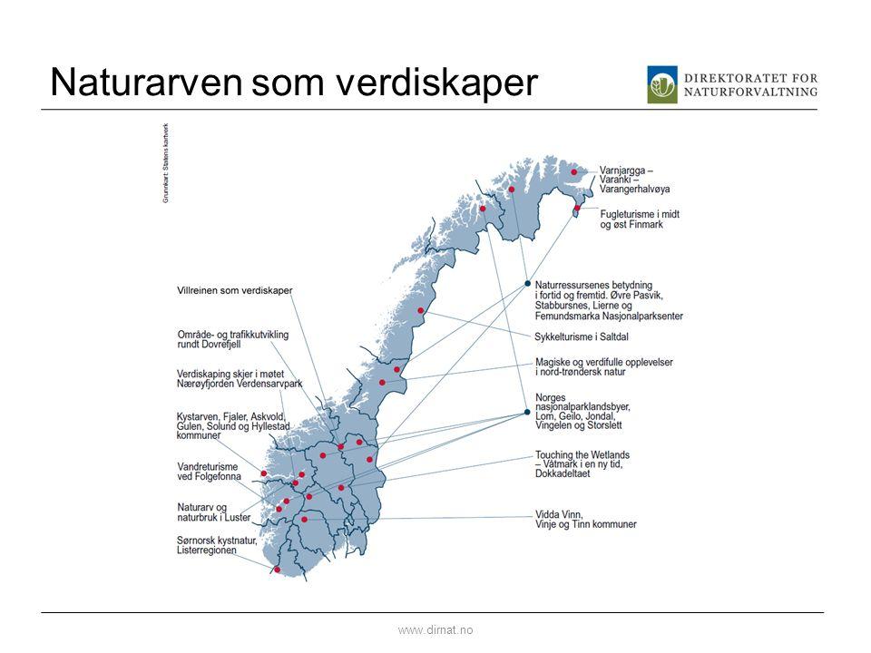 Naturarven som verdiskaper www.dirnat.no