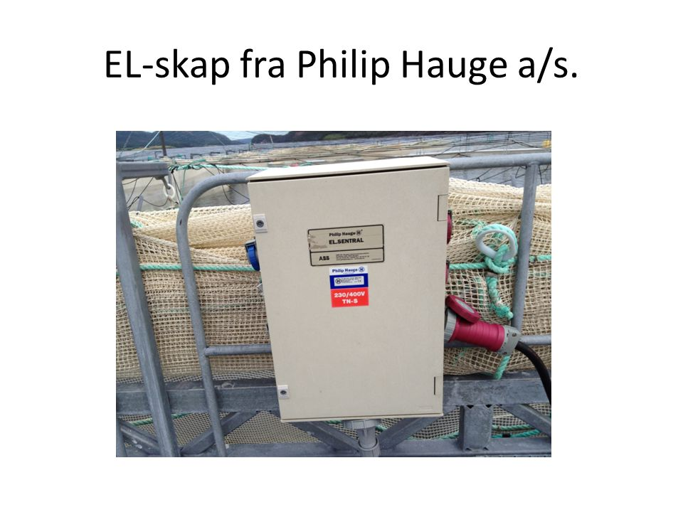 EL-skap fra Philip Hauge a/s.